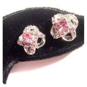 Dainty Crystal Knot Earrings